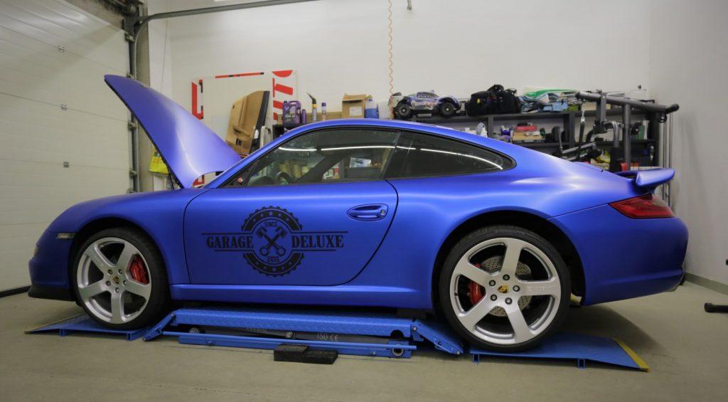 Auto Folierung, Autofolierung, Carwrapping Porsche 911 in 3M matt Blau metalic