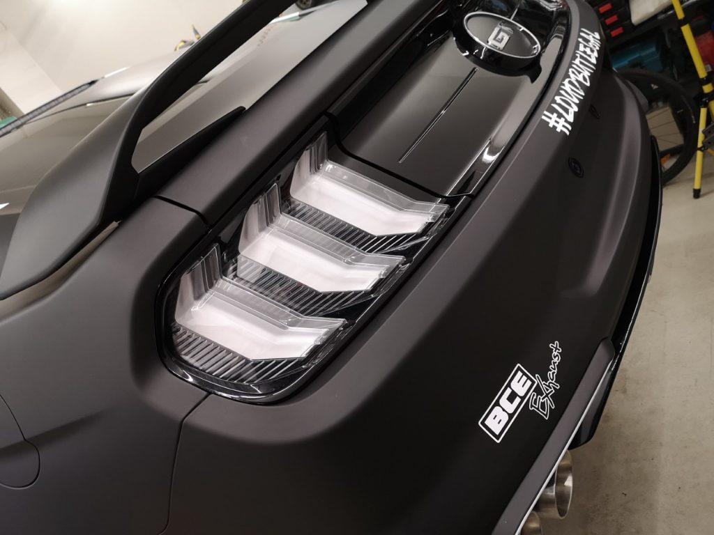 Auto folieren - Mustang GT Carwrapping 3M matt schwarz
