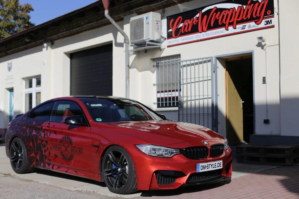 """Autofolierung BMW M4 3M Carwrapping matt schwarz """"GARAGE-DELUXE"""""""