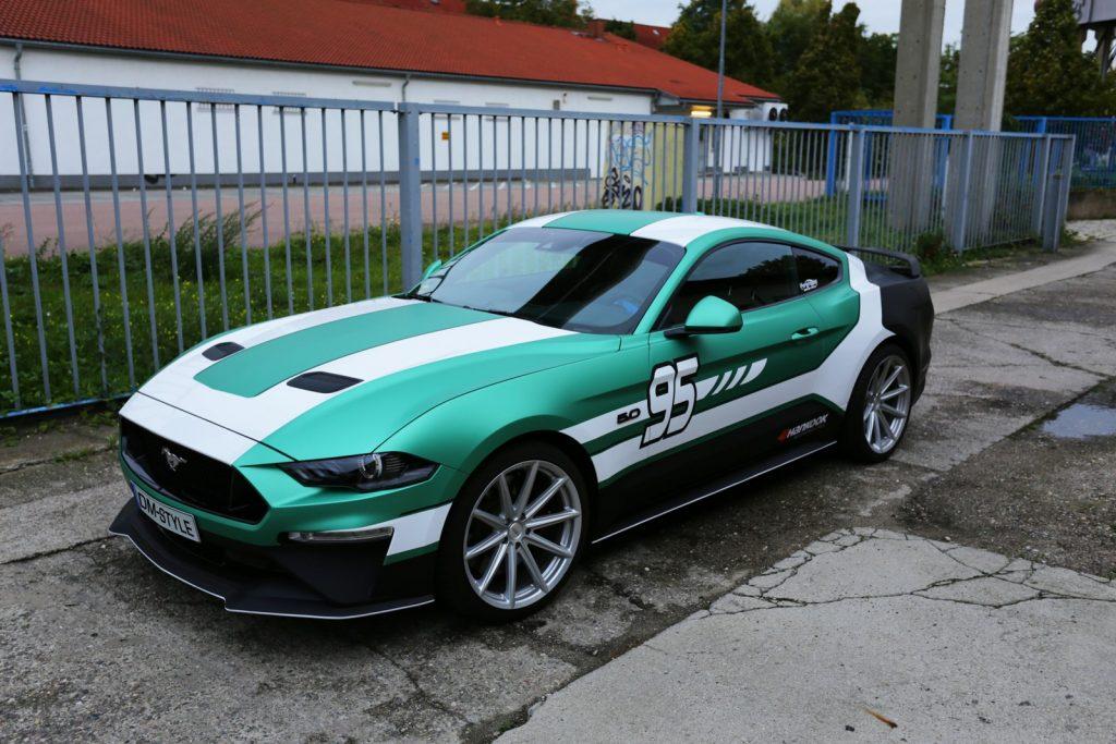 Auto folieren, Autofolierung - Mustang GT Carwrapping 3M grün weiss schwarz