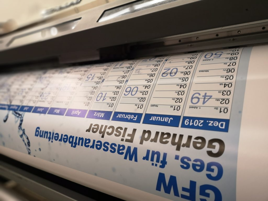 Druckprodukte, Prints, Ausdrucke, Foliendrucke, Kalenderdrucke