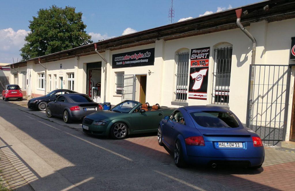 Auto folieren, Sportwagen Vollfolierung, mehrerer AUDI TT mit Premiumfolien aus dem Hause von 3M und AVERY