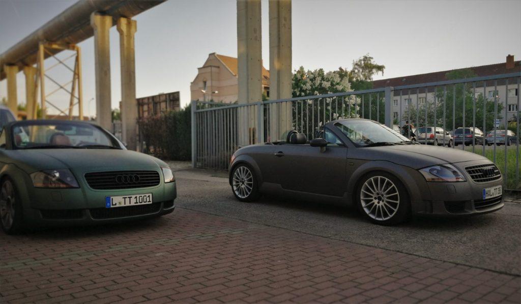 Auto folieren, Auto Folierung, Carwrapping, Sportwagen Vollfolierung mehrerer AUDI TT mit Premiumfolien aus dem Hause von 3M und AVERY