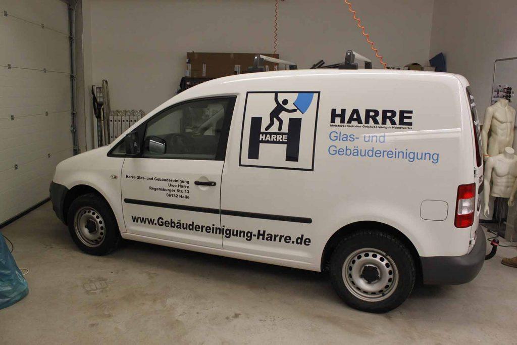 Fahrzeugwerbung, Autowerbung, Fahrzeugbeschriftung, VW Caddy mit Werbung