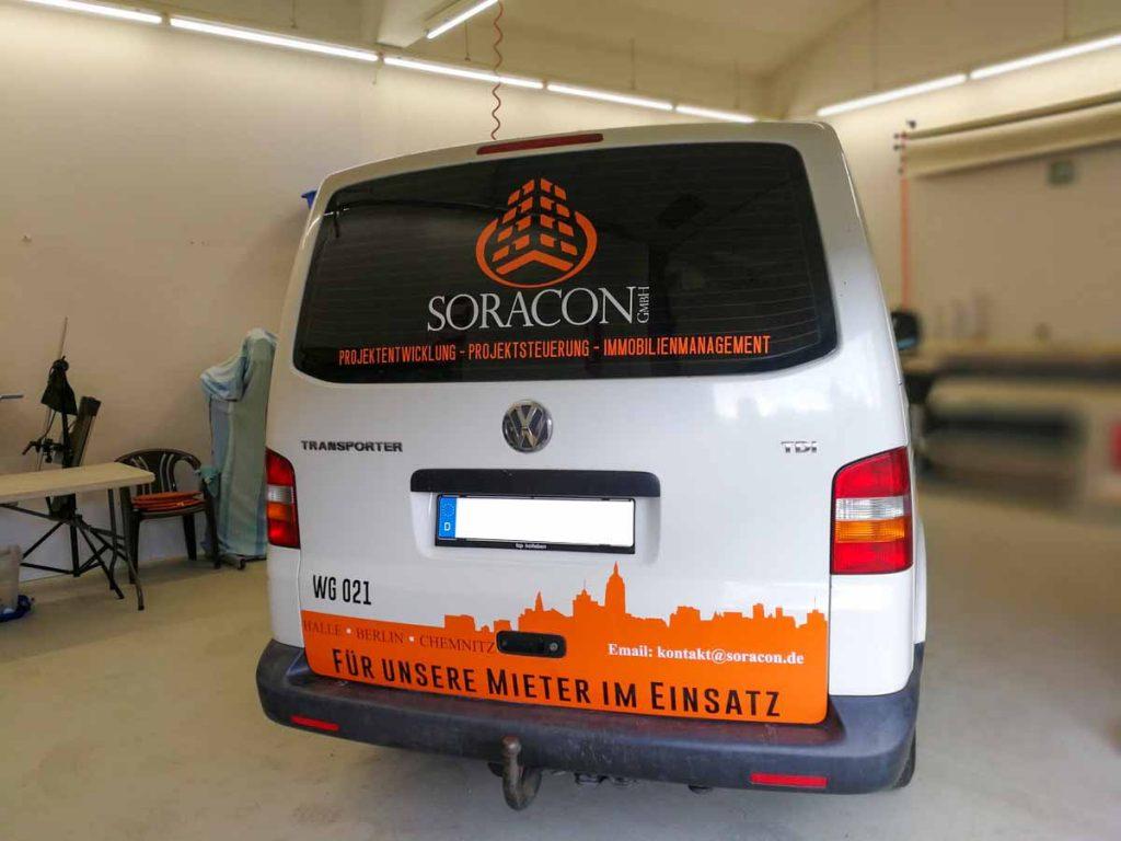 Fahrzeugwerbung, Autowerbung, Beschriftungen, VW Transporter SORACON