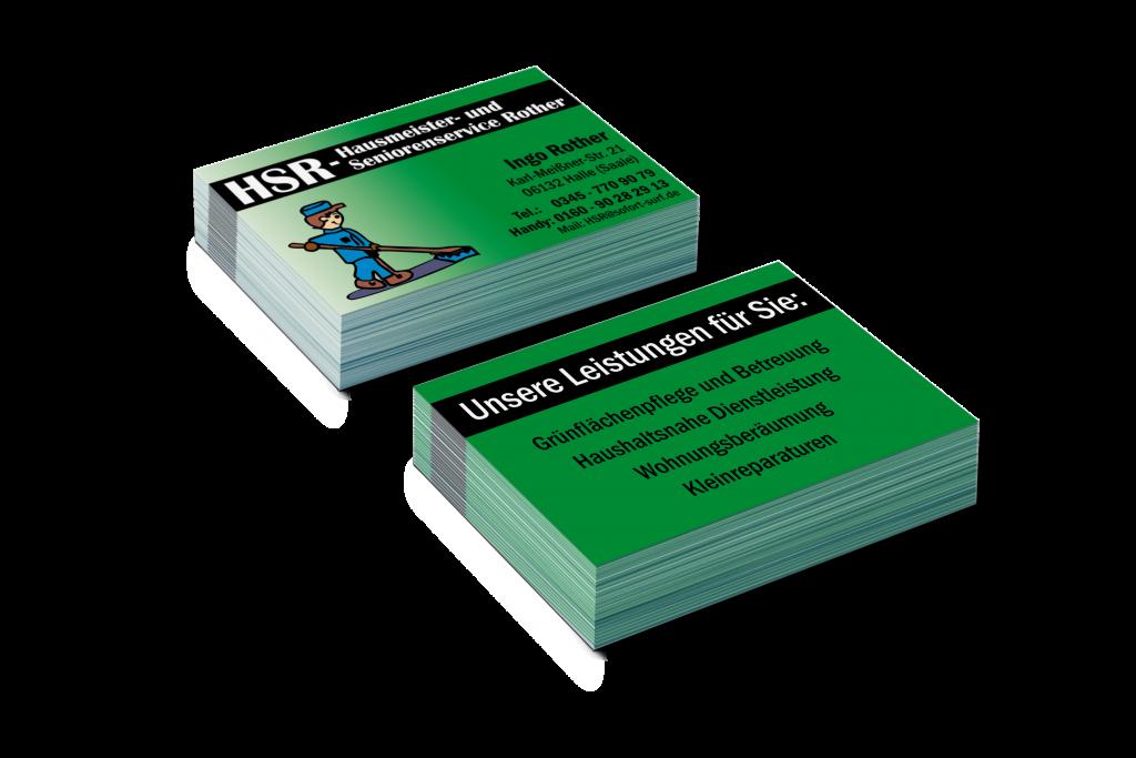 Visitenkarten Gestaltung Visitenkarten Design Hausmeisterservice Seniorenservice
