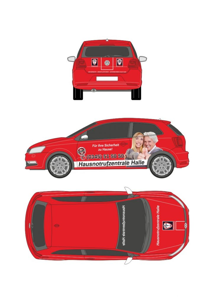 Vorlage Corporated Identity, Coporated Design VW Polo rot